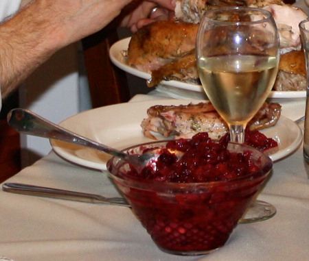Essay description of cranberry sauce on the plate